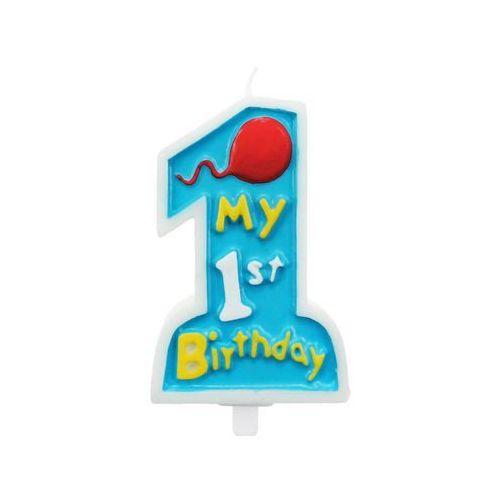 Świeczka my 1st birthday niebieska marki Godan