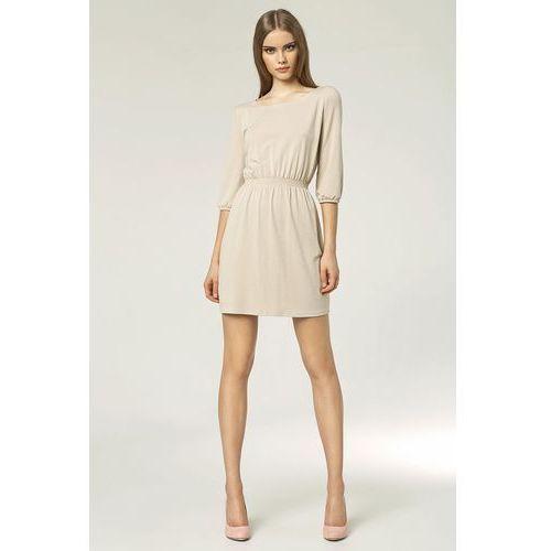 Modna sukienka - beż - s49 marki Nife