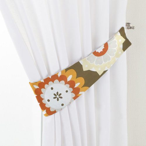 Dekoria  podwiązka victoria, kolorowe kwiaty na brązowym tle, 12 x 70 cm, wyprzedaż do -30%