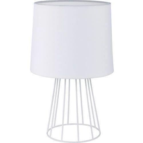 Tklighting Lampka nocna stołowa druciana tk lighting sweet 1x60w e27 biała 2889 (5901780528898)