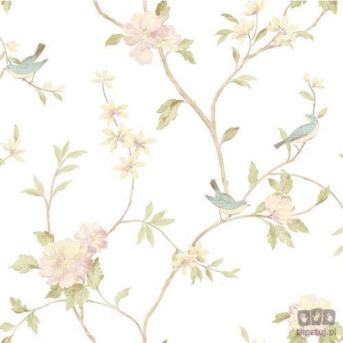 Tapeta ścienna w ptaki fleurs et toiles hm26326  bezpłatna wysyłka kurierem od 300 zł! darmowy odbiór osobisty w krakowie. od producenta Galerie