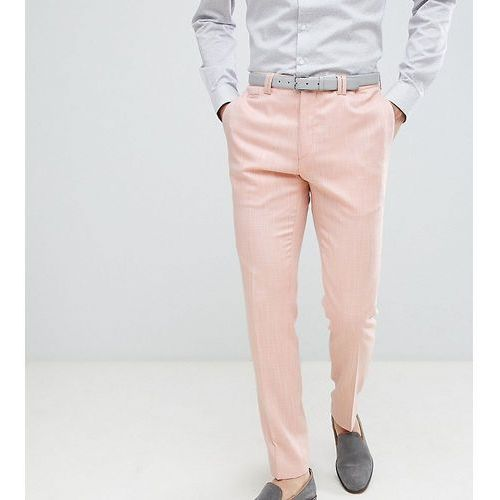 Noak skinny wedding suit trousers in crosshatch - pink