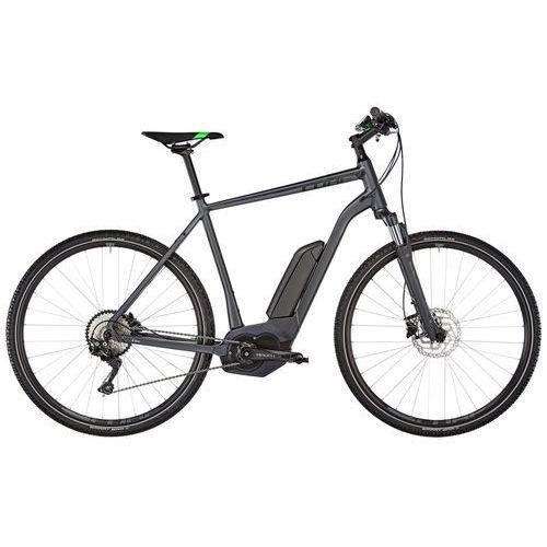 """Cube cross hybrid pro 400 rower elektryczny crossowy szary 58cm (28"""") 2018 rowery elektryczne"""