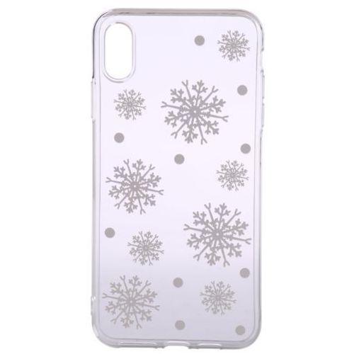 EPICO obudowa na iPhone XS Max WHITE SNOWFLAKES, kolor biały