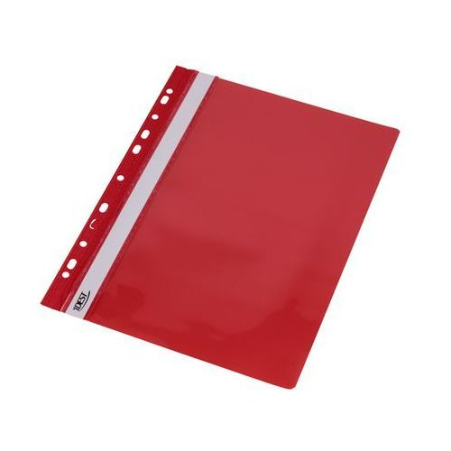 Idest Skoroszyt sztywny/perfora a4/pcv czerwony
