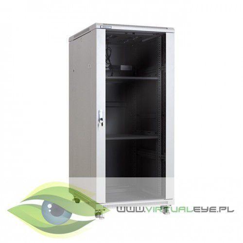 """szafa stojąca rack 19"""" 27u 600x800mm szara (drzwi szklane) marki Linkbasic"""