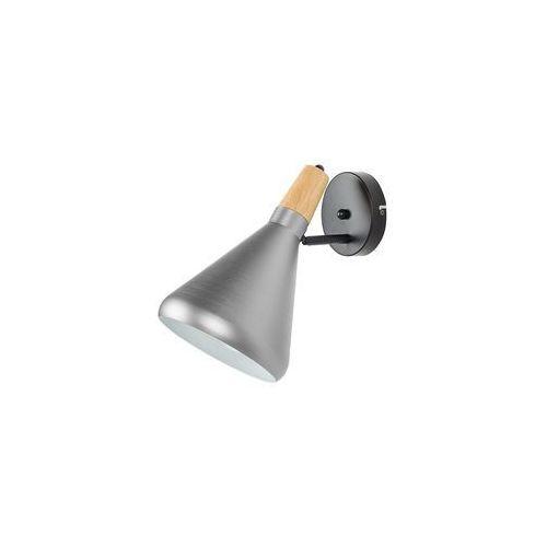 Lampa ścienna metalowa srebrna SCARPE
