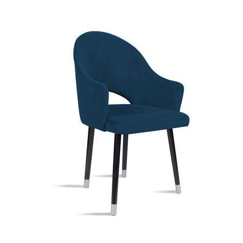 Krzesło BARI granatowy/ noga czarny silver/ SO263, kolor niebieski