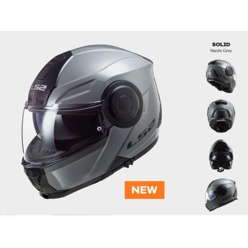 Kask motocyklowy szczękowy ff902 scope solid matt titanium - nowość 2022roku marki Ls2