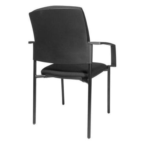 Topstar Krzesło z obiciem do ustawiania w stos, opak. 2 szt., szkielet czworonożny, szki