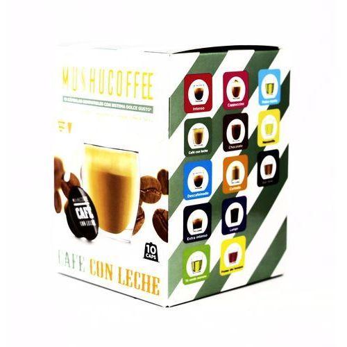 Nespresso kapsułki Cafe con leche mushu coffee (kawa z mlekiem) kapsułki do dolce gusto – 10 kapsułek