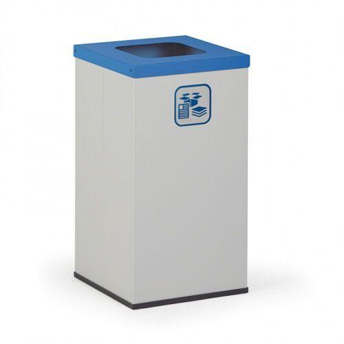 Kosz do segregacji śmieci z wewnętrznym pojemnikiem 42 l, szary/niebieski marki B2b partner