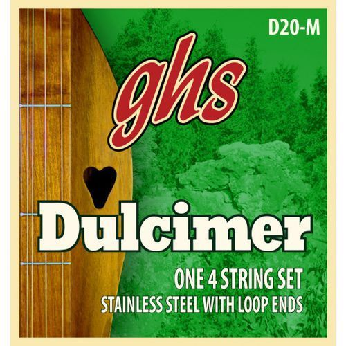 Ghs dulcimer string set, d-mixolydian tuning, loop end