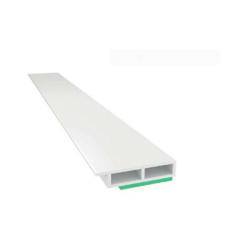 Listwa maskująca komorowa biała z noskiem z pianką samoprzylepną 7x30mm L=3mb pakiet 10szt., PP20 005