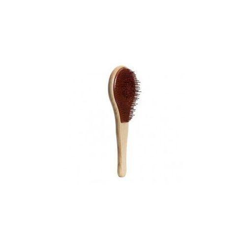 wood, drewniana szczotka do włosów normalnych, brązowa marki Michel mercier