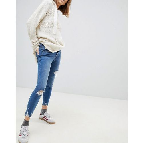 Free People Skinny Jeans with Light Distressing - Blue, skinny