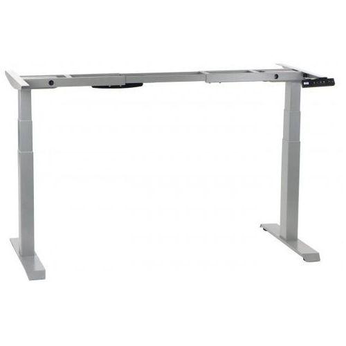 Stema-shb Dwusilnikowy stelaż metalowy biurka (stołu) z elektryczną regulacją wysokości, kolor aluminium, shb320-d650-f/a