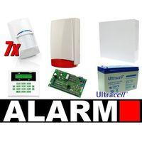 Zestaw alarmowy ca-10 lcd, 7 czujek, sygnalizator zewnętrzny marki Satel