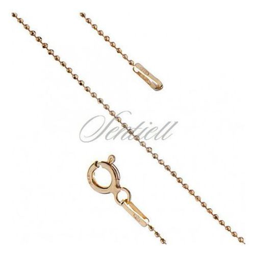 Silver (925) ball chain necklace 8L weight from 1,5g - gold plated - BEAD8L_G_100