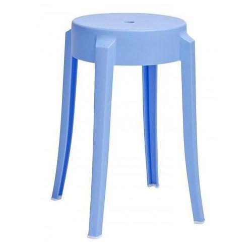 Producent: elior Minimalistyczny okrągły taboret tolla - niebieski