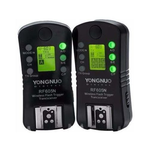 Yongnuo wyzwalacz radiowy rf605n - nikon (2 sztuki) darmowy transport (6947110919157)
