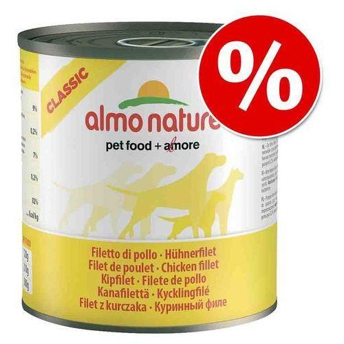 ALMO NATURE Classic Dog Beef and ham (wołowina i szynka) - puszka 6x290g (8001154124330)