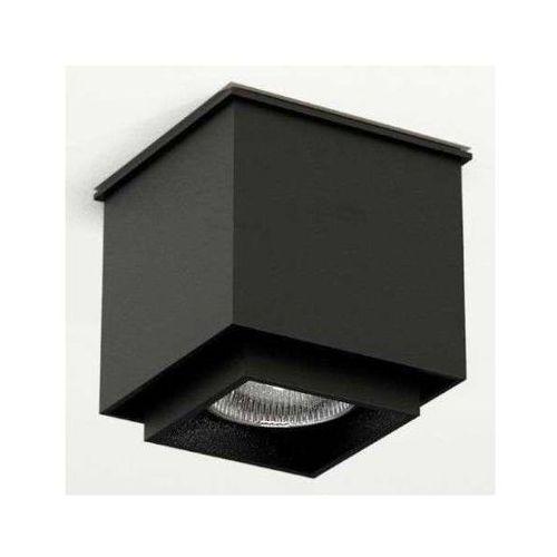 Downlight LAMPA sufitowa KAZO 1107/GU10/CZ Shilo natynkowa OPRAWA reflektorowa do łazienki kostka cube czarna, kolor Czarny
