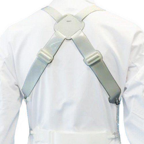 Szelki do metalowego fartucha ochronnego em 7045, polipropylenowe, białe, kbg45gwpp marki Euroflex