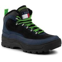 Trapery TOMMY JEANS - Hilfiger Expedition Boot EM0EM00378 Black Iris CBK, kolor niebieski