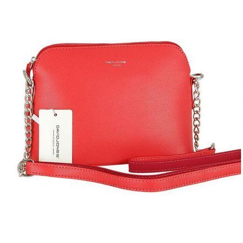 Zgrabna torebka listonoszka DAVID JONES czerwona - czerwony