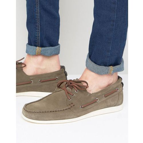 BOSS Orange by Hugo Boss Deck Suede Boat Shoes - Grey