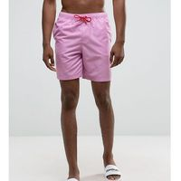 ASOS TALL Swim Shorts In Pink With Red Contrast Drawcords Mid Length - Purple