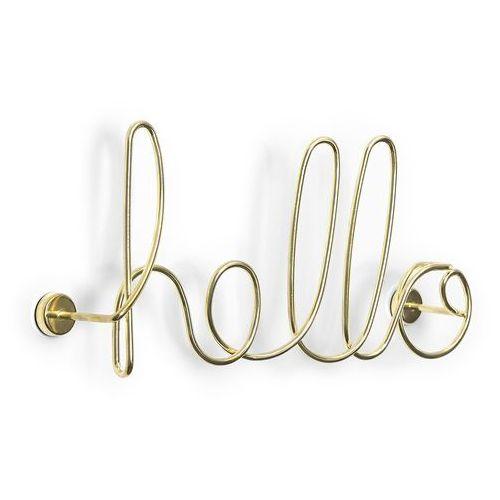 Dekoracja ścienna Umbra Wired Hello brass, 1005956-104