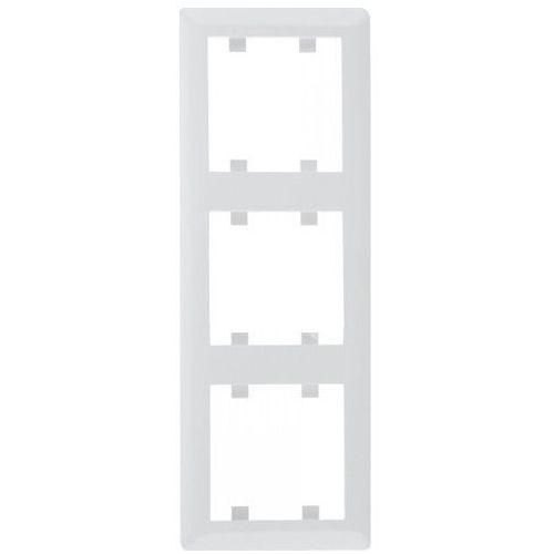 LUMINA2 Ramka potrójna pionowa biała WL5130 HAGER POLO (8694407000071)