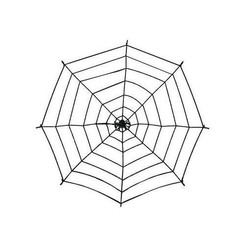 Duża pajęczyna czarna - 100 cm - 1 szt.