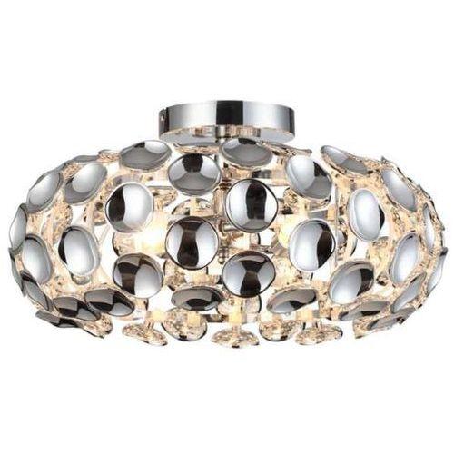 Light prestige Plafon lampa sufitowa ferrara lp-17060/3c owalna oprawa glamour carera chrom
