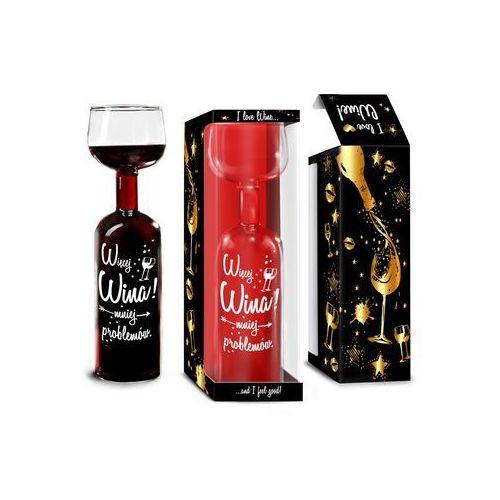 Butelko kieliszek - Więcej wina - mniej problemów - OKAZJE
