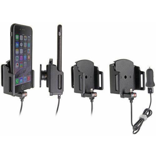 Uchwyt regulowany do apple iphone xr w futerale lub obudowie o wymiarach: 62-77 mm (szer.), 2-10 mm (grubość) z wbudowanym kablem usb oraz ładowarką samochodową marki Brodit ab