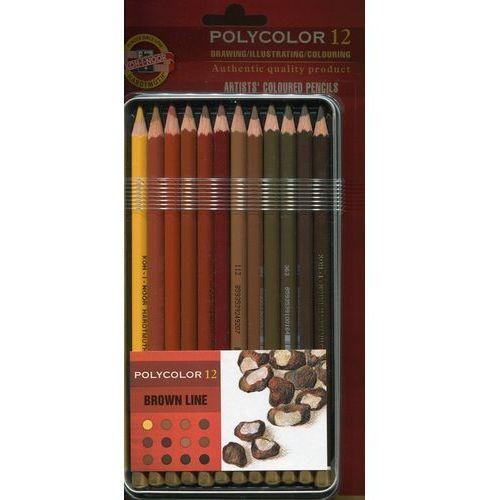 Kredki Polycolor 12 kolorów Linia brązowa, 3822-GY