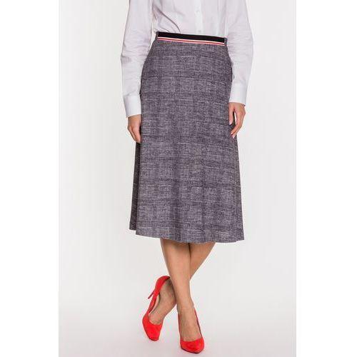 Szara spódnica w kratkę - Far Far Fashion, 1 rozmiar