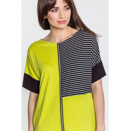 Limonkowa sukienka w sportowym stylu - Ennywear