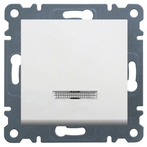 Wyłącznik przyciskowy zwierny, z podświetleniem, biały LUMINA2 WL0410 HAGER