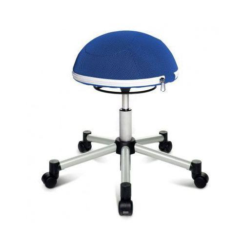Krzesło dla zdrowych pleców HALF BALL, krzyż metalowy, niebieska