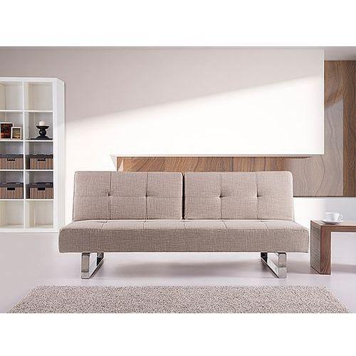 OKAZJA - Sofa z funkcją spania jasnobeżowa - kanapa rozkładana - wersalka - DUBLIN