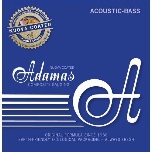 5300nu-ml (669610) struny do basu akustycznego nuova coated / powlekane zestaw 4-string med-light marki Adamas