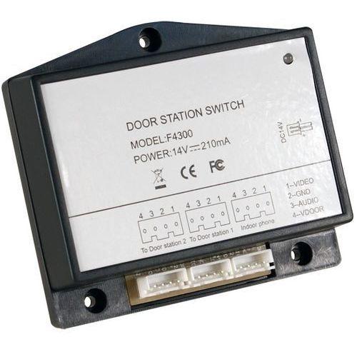 Przełącznik z zasilaczem do dwóch wejść f-4300 marki Genway