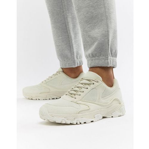 ASOS DESIGN Trainers In Tonal Off White With Chunky Sole - White, kolor biały
