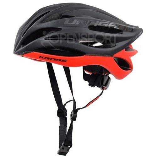 Kross Kask rowerowy uragano m 55-58cm czarny / czerwony