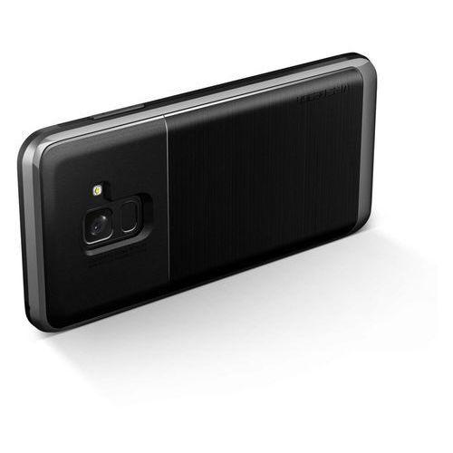 Etui VRS Design High Pro Shield Samsung Galaxy A8 2018 Steel Silver, kolor szary