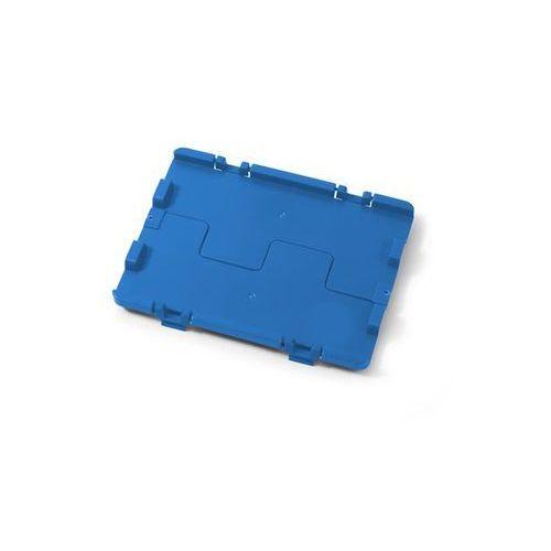 Häner Składana pokrywa z zawiasami, opak. 4 szt., dł. x szer. 600x400 mm, niebieski. ł